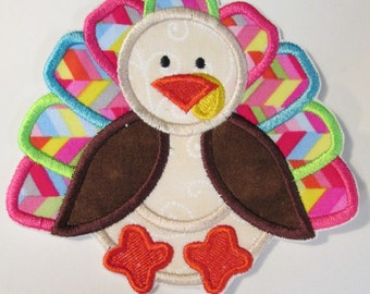 Iron On Applique - Thanksgiving Girly Turkey
