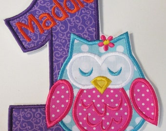 Iron On Applique - Birthday Owls    344562