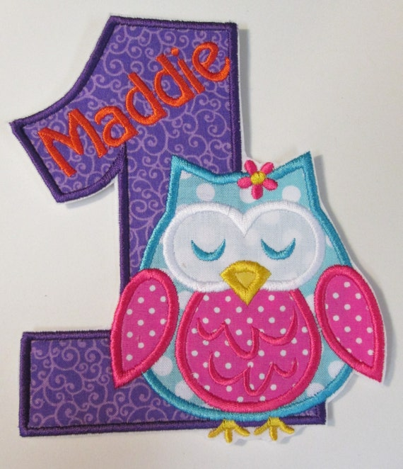 Iron On Applique - Birthday Owls    344562