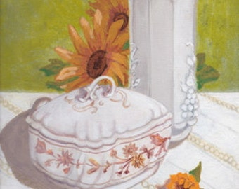 Painting Still Life Country White #28 ORIGINAL