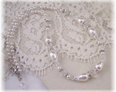 NEW Swarovski Pearl/Crystal Retro Antique Vintage Fashion Jewelry Necklace-Bridal Collection