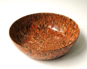 50s vintage Boonton Melmac Dinnerware Brown/Orange Confetti Bowl