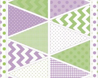holiday easter purple banner fabric from samanthasembroidery on etsy