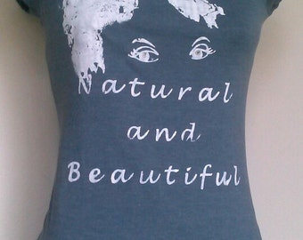 Teen Gray with White Natural and Beautiful T-Shirt