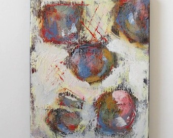 """SALE, White Abstract Acrylic Painting, 11"""" x 14"""", Original Art on Canvas, Modern home decor"""