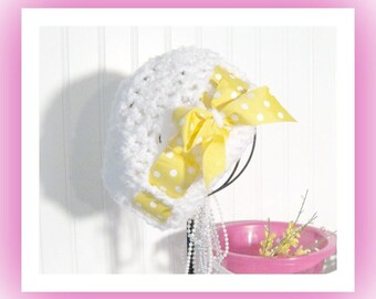 Crochet Pattern for Miss Priss Sun Cap