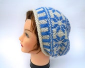 Instant Download Pattern - Knit Hat Pattern - Knitting Pattern For Fair Isle Hat With Rolled Brim - Beanie Tutorial