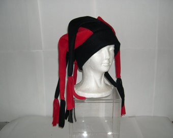 Fleece Jester Hat 6 Long Points Pick your own solid colors NEW