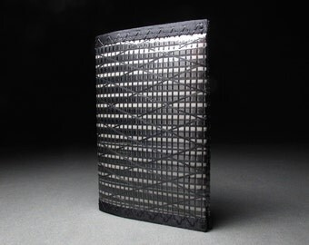 RFID Blocking Passport Cover w/Velcro - Black Carbon Fiber - Mens Passport Case - Vegan