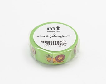 new -mt washi masking tape - designer collection - mt x lisa larson - lion