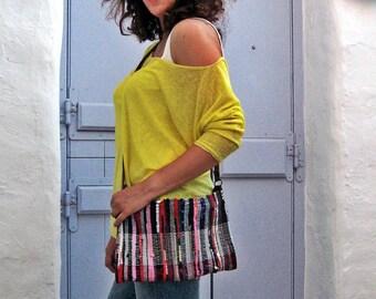 Cross Body Boho Bag. Small  Bobo Messenger Bag. Boho Kilim Bag. Over The Shoulder Bag. Womens Gift. Kourelou Bag.  Colorful Womens Gift