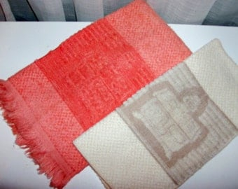 NEW 60s Tangerine Kitchen Towel and Dish Cloth Set
