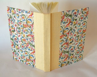 Blank book journal unlined - 6x8.5 15x22cm - yellow with Florentine cover- Ready to ship