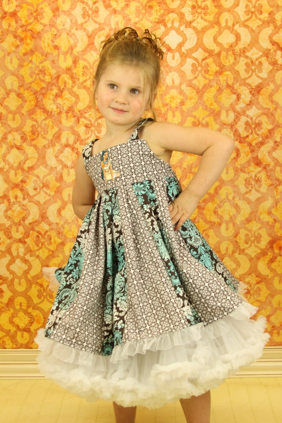 custom boutique twirl dress made with pocahontas patch   size 2-6