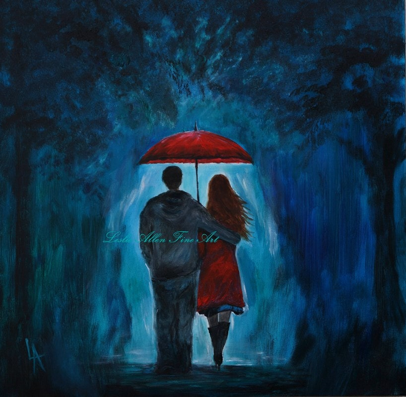 Couple Painting SALE Couple Original Acrylic Painting COUPLE