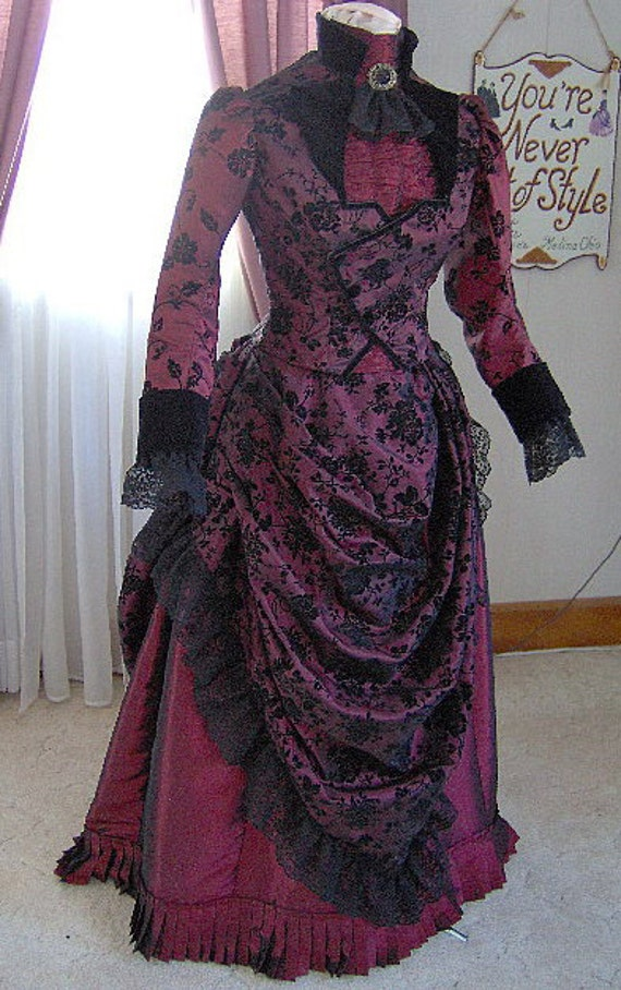 FOR ORDERS ONLY 1800s Victorian Dress 1887 Bustle Gown 1880s | Etsy