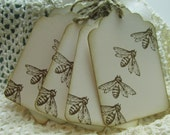 Old Fashioned Cute Honey Bee Hang Tags - Set of Eight