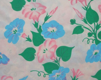 Vintage Morning Glory Floral Wrapping Paper Sheet