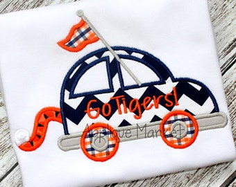 Machine Embroidery Design Applique Car Tiger Tail INSTANT DOWNLOAD