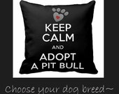 Custom dog breed toss pillow dog lovers choose your favorite breed