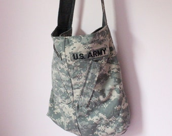 Custom Upcycled Tote - Made with YOUR ACU Army Jacket - Memory Tote -  Recycle