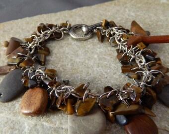Sticks and Stones Tiger Eye Bracelet