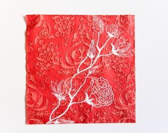 White Rose Napkin, Paper Napkin for Decoupage, Craft Napkin, Scrapbooking Napkin, Decoupage Paper Tissue