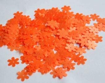 75 Matte Orange Flower Sequins/KBBF455