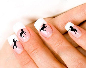 24 Horse Nail Decals