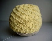 yellow swirl newborn hat
