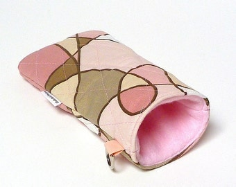 SALE Pink Quilted Sunglass case CARNIVAL