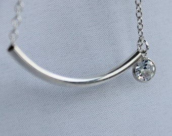 Sterling Silver Bar and Bling Bracelet