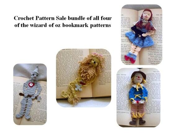 wizard oz bookmark pattern sale, crochet pattern sale bundle,