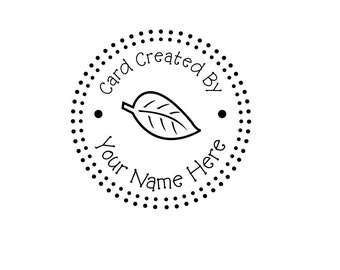Handle Mounted Personalized Name custom made rubber stamps CCB5