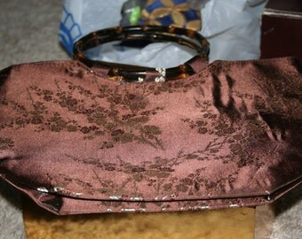 Brown Silk Purse