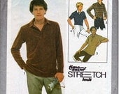 Vintage Simplicity Sewing Pattern Mens Shirts