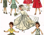 PATTERN 2744 Little Miss Revlon Jill Jan Miss Ginger Doll Clothes for 10 inch Dolls by Ideal Bridal Gown Veil Dress Drop Waist Pleated Skirt