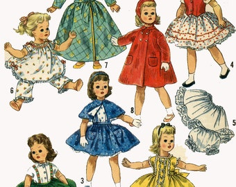 Vintage Doll Clothes PATTERN 1779 for 15 in Sweet Sue by American Character 1950s