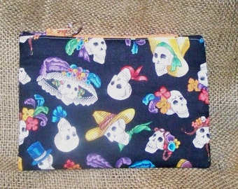 Skull Zippered Pouch