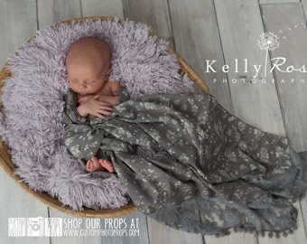 Earth Floral Lace Newborn Photography Props, Layers, Blanket Newborn Photo Props, Baby Photo Props, Baby Wrap Props, Girl Props, Drape