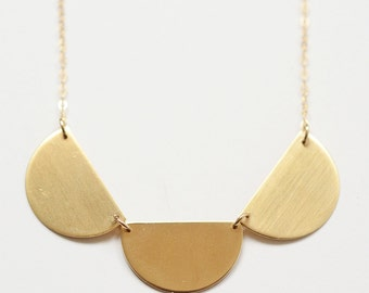 Triple Half Circles Necklace