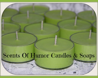 CHRISTMAS HEARTH Scented Soy Tea Lights - Soy Candle - Choose Set of 10 Or 6 Gift Boxed - Hand Poured - Highly Scented - Hand Made In USA