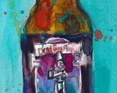 """Dead Guy Ale """"Rogue""""  Beer Watercolor Print"""