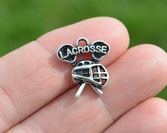 5  Silver LaCrosse Charms SC3238