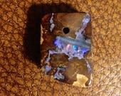 Amazing fiery  australian boulder opal pendant