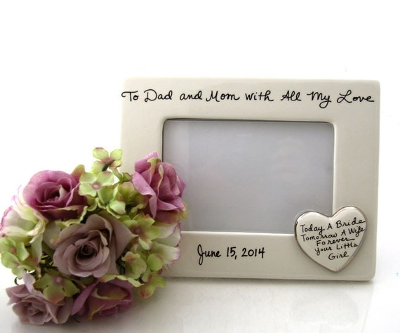 Wedding Gift For Parents Etsy : Wedding gift for parents of the bride, wedding frame, can be ...