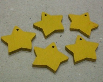 Yellow Wooden Stars