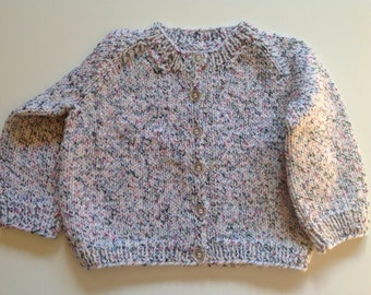 Multicolored 'Candy Flecks' Knit Baby Cardigan 9 to 12 months