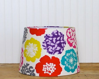 Drum Lamp Shade Lampshades Tapered Echino Bloom Multi Color