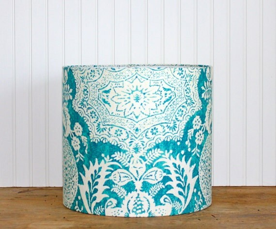 Drum Lamp Shade Lampshades Shalimar Peacock Teal